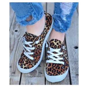 Leopard Comfy Sneakers - New!